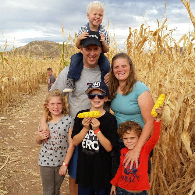 Crash Dad Family Corn Maze