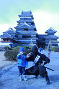 Young ninja in training.
