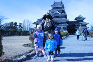I think the samurai would lose against these three little monsters.