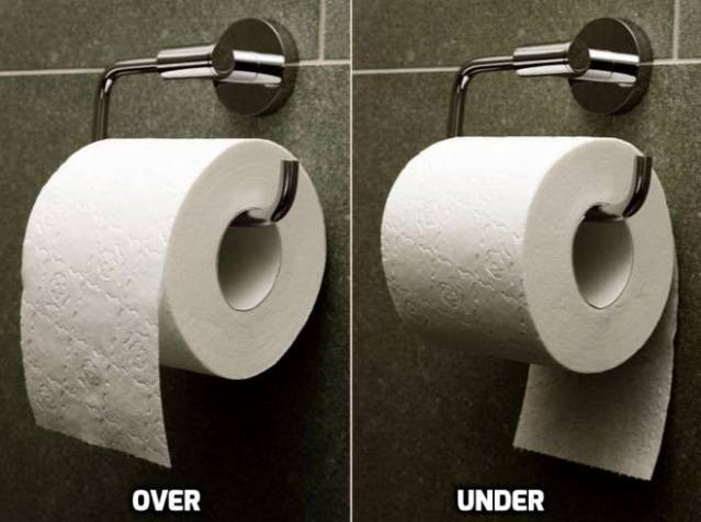 Over versus Under - The Toilet Paper Debate