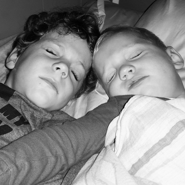 Gianluca and Micah Sleeping