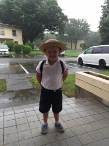 I am generally anti-uniform, but man he is a cute little guy.